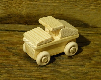 Wood Toy Truck Wooden Toys Hummer Military Handmade Humvee Handcrafted Christmas stocking stuffer
