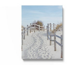 Coastal Wall Art, Beach Art Ready to hang Canvas Gallery Wrap, Sand Dune, Beach Fence Photo, Beach Path, Canvas Wall Art, Canvas Beach Print