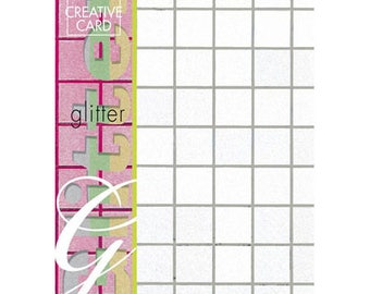 4 sheets A4 square beaded argent_JJ86210