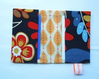 """Card holder in cotton, printed """"Autumn"""""""