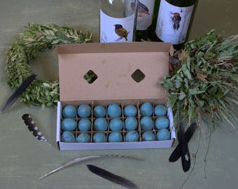 Easter Real natural empty quail eggs Colored eggs Easter decor Wedding decor Woodland decor Turquoise eggs Easter arrangements accessories
