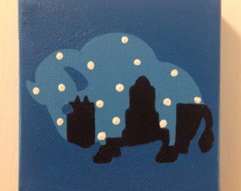 Buffalo Cityscape Snow Painting