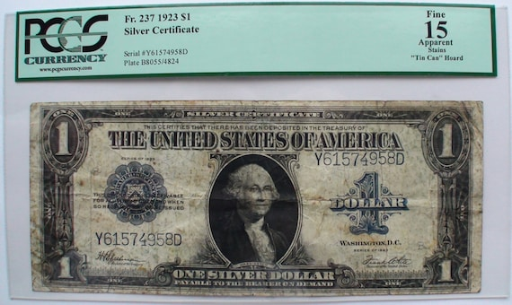 1923 US One 1 Dollar Bill Note Old Currency Paper Money George