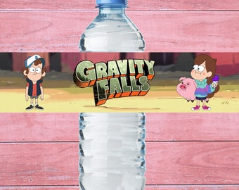 80% OFF SALE Water Bottle Label Gravity Falls,  Bottle Label Gravity Falls, Water Bottle Label Gravity Falls, Birthday Party