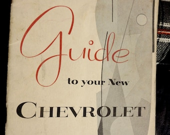 1956 chevrolet guide/ owner's manual