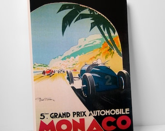 Vintage Apple 'Grand Prix Monaco' Gallery Wrapped Canvas Print