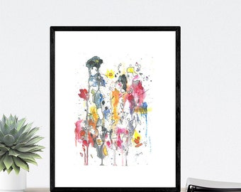 Abstract Watercolour Print - Watercolour on Paper print In High quality Print Card Paper