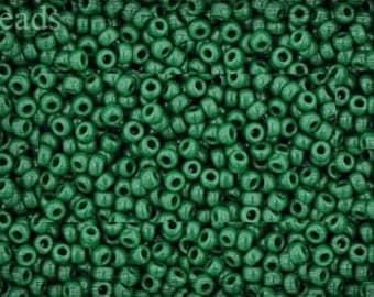 11/0 TOHO seed beads 10g Toho beads 11/0 seed beads Opaque Pine Green 11-47H last