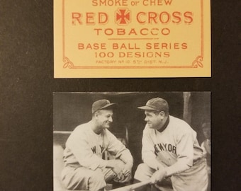 Babe Ruth & Lou Gehrig 1920s Style Red Cross Tobacco Custom Made Card (Free Shipping) ..... Read Listing For 25% OFF SALE + Extra Free Cards