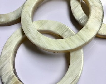 Cowhorn Round Rings Beads -  Recycled - Fair Trade Mzuribeads from Uganda Pack of 5 Beads