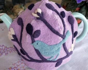 Lavender Tea Cozy, Felted Wool