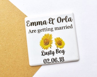 Sunflower Save The Date - Floral save the date - Save The Date Magnet -  Save The Dates - Wedding Announcement - 16STD
