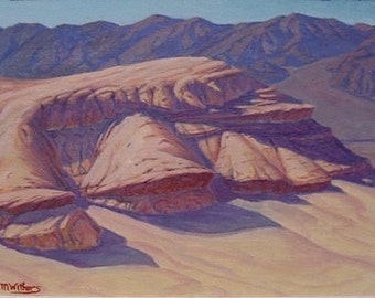 desert painting - framed 'Texas Springs' - Death Valley - original Landscape Painting - plein air - oil - southwest decor - ultra violet