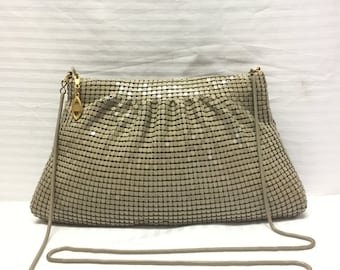 Elka, Metal Mesh purse,Tan,Taupe, Shoulder Bag,bags,purses