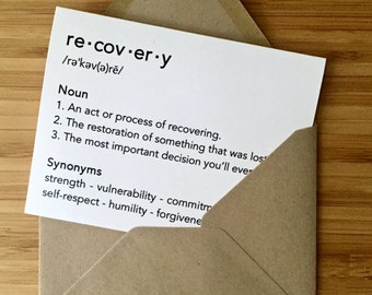 Addiction recovery etsy recovery card colourmoves