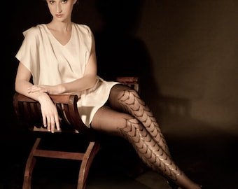 Black on black Cabaret tights available in S-M L-XL