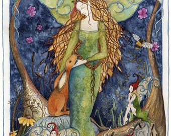 The Faerie Queen, Midsummer night  - limited edition print A3