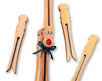 Flat Unfinished Clothespins bag of 30 pcs Penley Company