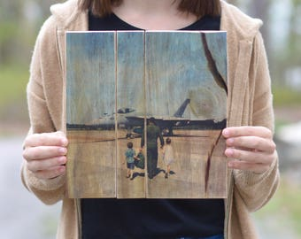 dad photo gift personalized dad gift Reclaimed Wood pallet Photo personalized gift photo gift Photo on Wood Wooden photograph.