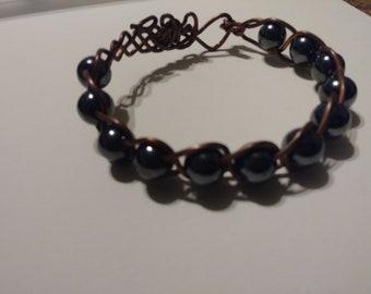 Beautiful braided bead bracelet