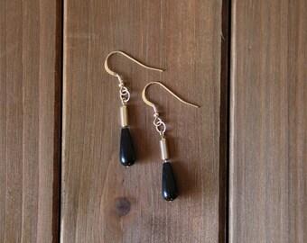 14K Gold Blackstone Earrings