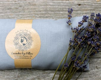 Lavender Eye Pillow Grey • Large • Relaxation • Meditation • Yoga  • Organic Body Care