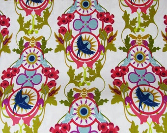 Rising in Snow, White with Pink, by Alison Glass for Andover Fabric
