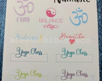 YOGA CLASSES CPs | Spiritual | Appointment | Sampler | Planner Stickers
