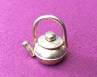 Teeny Little Vintage Miniature Tea Kettle for Your Dollhouse