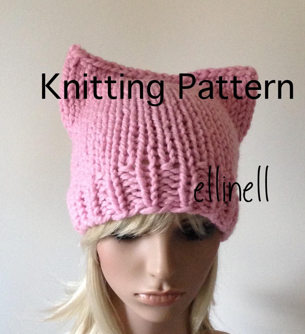 Knitting pattern pussy hat diy not a completed hat kitty zoom bankloansurffo Choice Image
