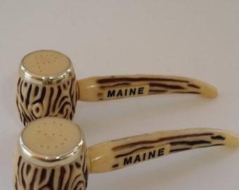 Vintage Maine Salt and Pepper Shakers Retro