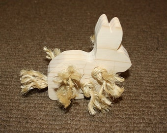 Bunny Toss n Chew Fuzzy Rabbit Toy
