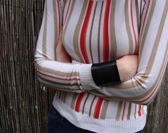 Roman Record Cuff in Basic Black - Rock and Roll Jewelry Made From Recycled Vinyl Records