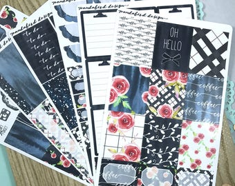 Weekly Planner Sticker Kit | Winter Plaid Kit