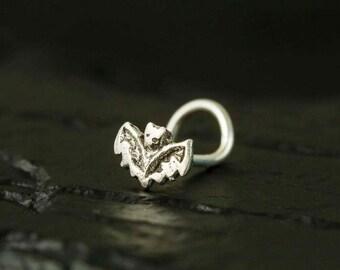 Mini BAT sterling silver nose stud/nose ring/nose screw