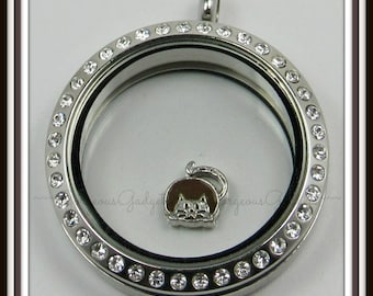 Fat Cat Floating Charm for Glass Locket / Floating Locket / Living Locket
