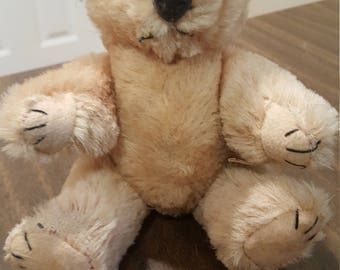 "Reduced Proce--Cute Vintage 8"" Mohair Teddy Bear"