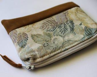 Floral Boho Purse, Zipper Card Holder, Coin Purse, Change Pouch, coin pouch, Card Wallet, Zipper Pouch, Small purse, tobacco pouch, bohemian