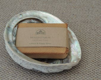 Shell Soap Dish with Gift Wrapped Handmade Soap