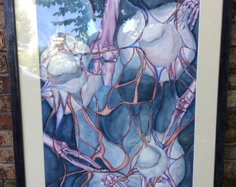 Biological Connections Watercolor Painting