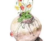 Poppy Painting - Print fr...