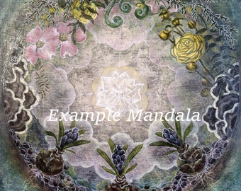Custom art, Mandala, Personalized Commission, Alter piece, made to order, original art, painting