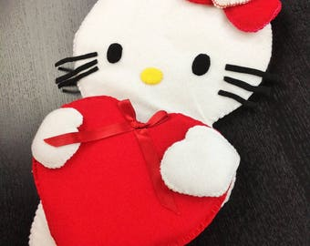 "Felt Decoration Hello Kitty Handmade 17""X10.5"" Wall Decoration Room Ornament Baby Decor"
