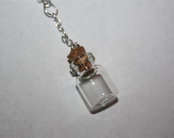 Mini Vial Bottle Bottle with Cork Accessories - Chokers, Earrings, Cell Charms, Keychains, Necklaces, etc