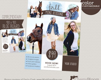 Fall Mini Session Template for Photographers with Blog Board - MS02