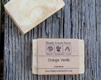 Orange Vanilla Soap All Natural Soap Artisanal Clay Soap Handcrafted Vegan Soap Handmade Soap Cold Process Soap