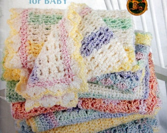 Crocheted Blankets For Baby By Leisure Arts Crochet Pattern Leaflet 2003