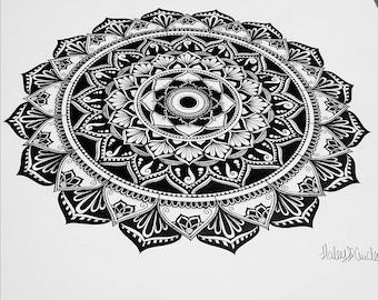 Original Black and White Mandala