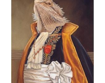 Bearded Dragon Prints, Sir Spike, Bearded Dragon Gifts,  Lizard Art