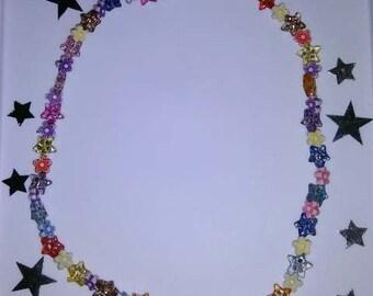 Multi-Color Flower Necklace